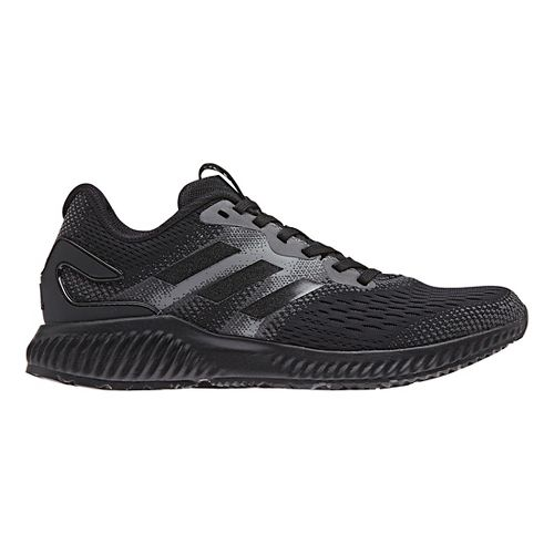 Womens adidas AeroBounce Running Shoe - Black/Black 7