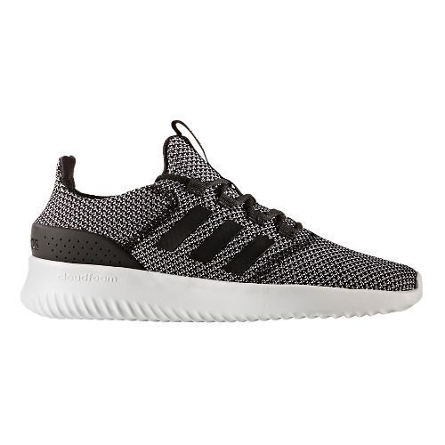 Mens adidas CloudFoam Ultimate Casual Shoe - Black/White 12