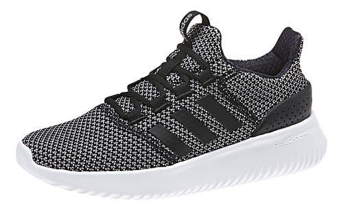 Womens adidas CloudFoam Ultimate Casual Shoe - Black/White 10