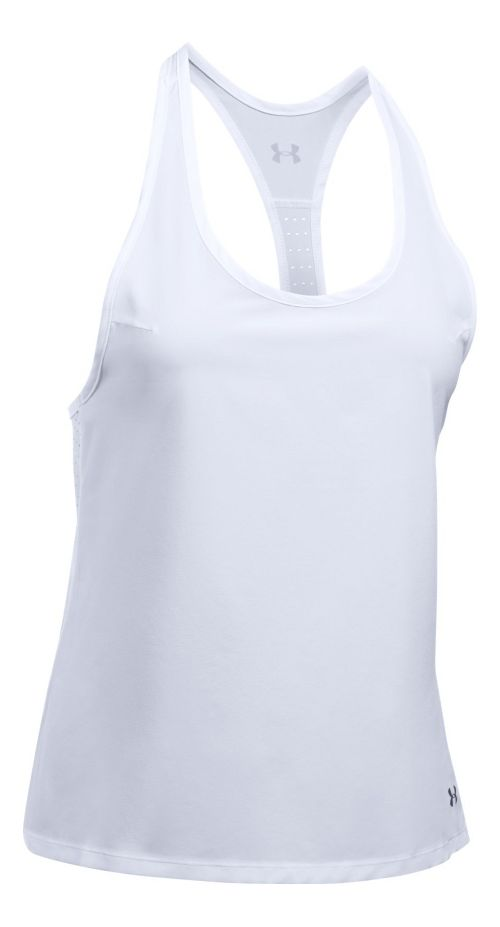 Womens Under Armour UA Accelerate Sleeveless & Tank Tops Technical Tops - White L