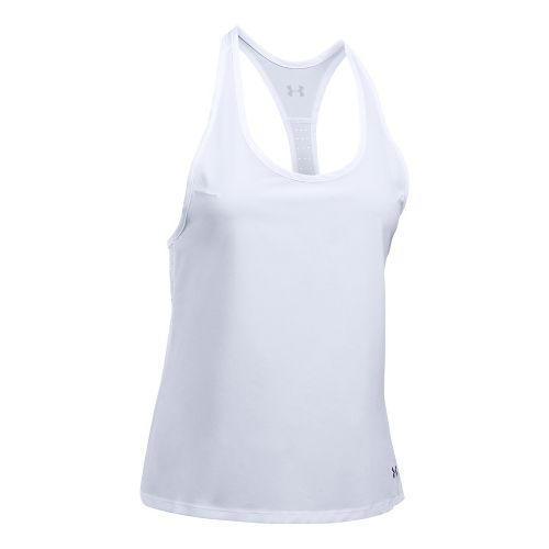 Womens Under Armour UA Accelerate Sleeveless & Tank Tops Technical Tops - White XS