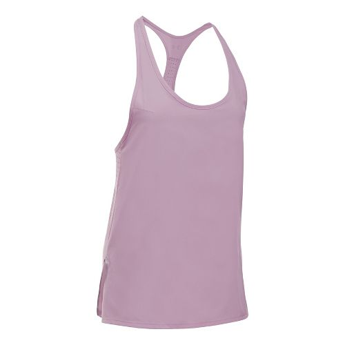 Womens Under Armour UA Accelerate Sleeveless & Tank Tops Technical Tops - Fresh Orchid M ...
