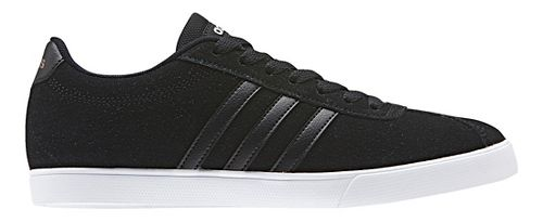 Womens adidas Courtset Casual Shoe - Black Suede 7