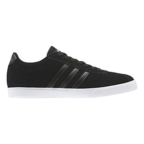 Womens adidas Courtset Casual Shoe - Black Suede 8