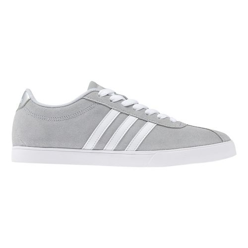 Womens adidas Courtset Casual Shoe - Grey Suede 9