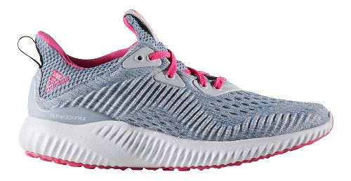 Kids adidas AlphaBounce EM J Running Shoe - Grey/Pink 5.5Y
