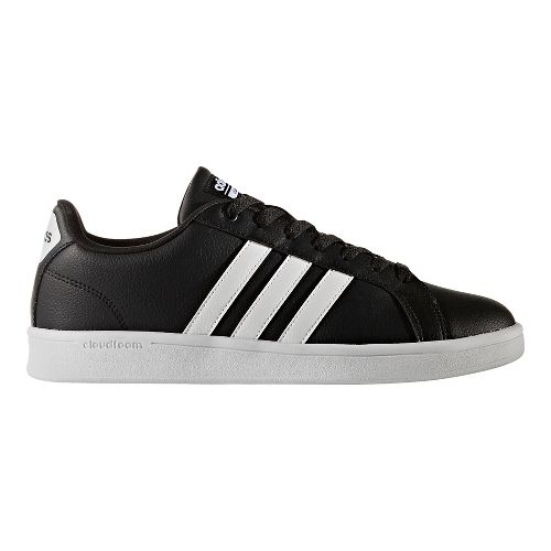 Mens adidas CloudFoam Advantage Stripe Casual Shoe - Black/White 6.5
