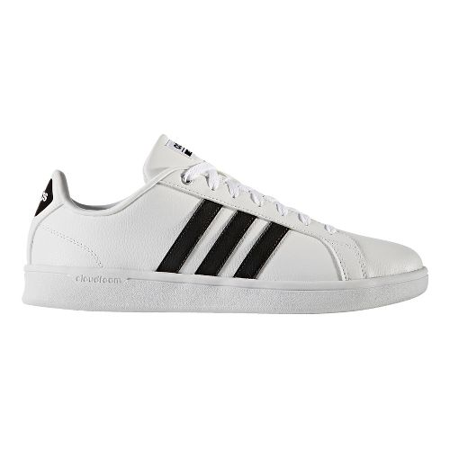 Mens adidas CloudFoam Advantage Stripe Casual Shoe - White/Black 12.5