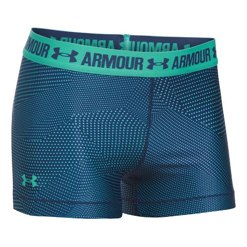 Womens Under Armour HeatGear Printed Shorty Unlined Shorts - Absinthe Green XL