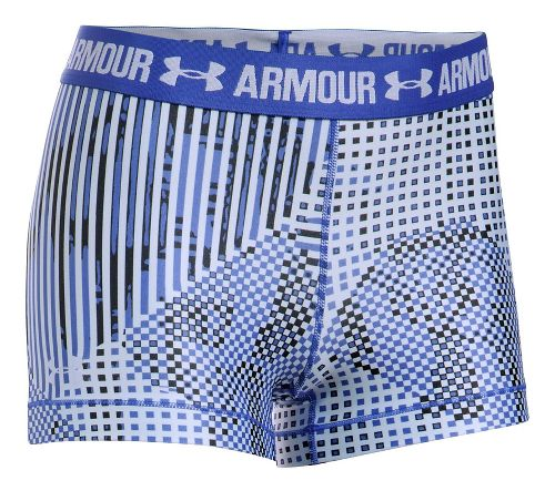 Womens Under Armour HeatGear Printed Shorty Unlined Shorts - Purple/Lavender S