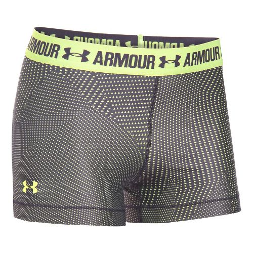 Womens Under Armour HeatGear Printed Shorty Unlined Shorts - Pale Moonlight XS