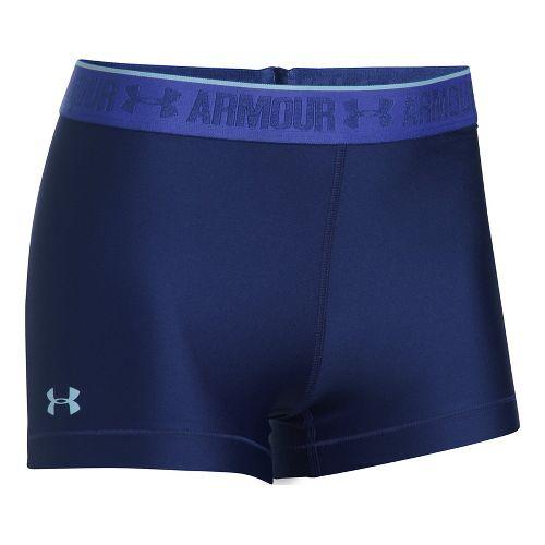 Womens Under Armour HeatGear Shorty Shine Unlined Shorts - Europa Purple L