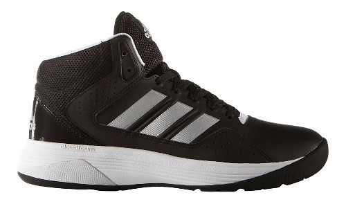 Mens adidas CloudFoam Ilation Mid Shoe - Black/Silver 7