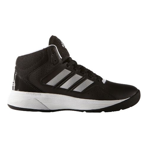 Mens adidas CloudFoam Ilation Mid Shoe - Black/Silver 12