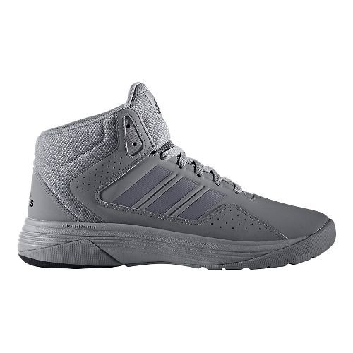 Mens adidas CloudFoam Ilation Mid Shoe - White/Black 12.5
