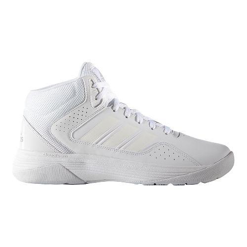 Mens adidas CloudFoam Ilation Mid Shoe - White/Black 8.5