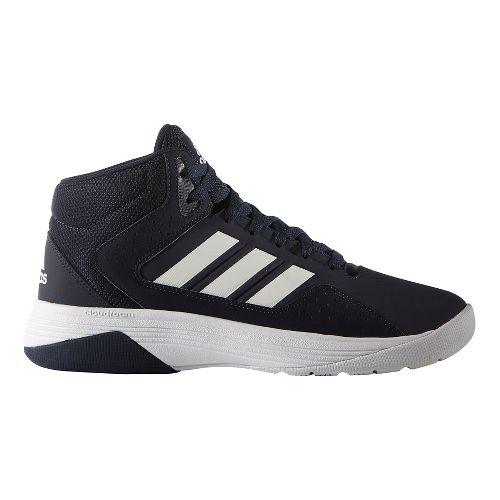 Mens adidas CloudFoam Ilation Mid Shoe - Navy/White 11.5