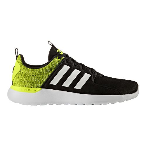 Mens adidas CloudFoam Lite Racer Casual Shoe - Black/Solar Yellow 7.5