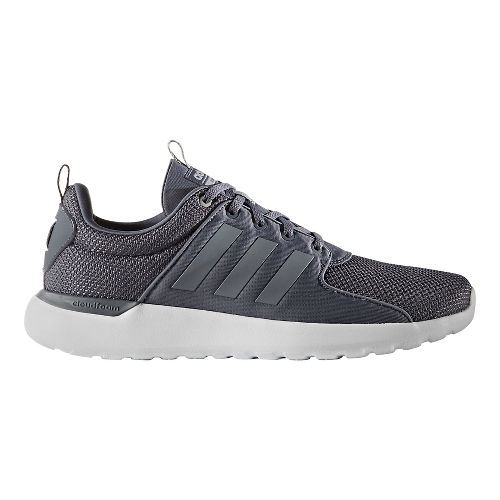 Mens adidas CloudFoam Lite Racer Casual Shoe - Grey/White 7