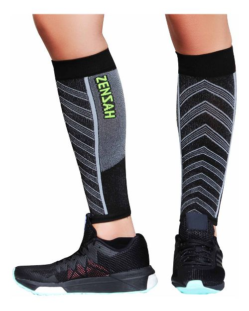 Zensah Featherweight Compression Leg Sleeves Injury Recovery - Black M