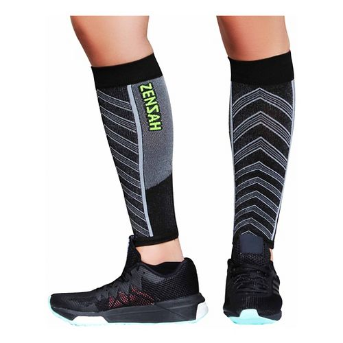 Zensah Featherweight Compression Leg Sleeves Injury Recovery - Black L