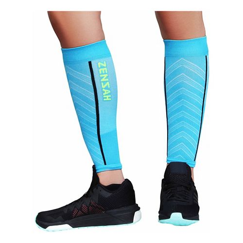 Zensah Featherweight Compression Leg Sleeves Injury Recovery - Turquoise L