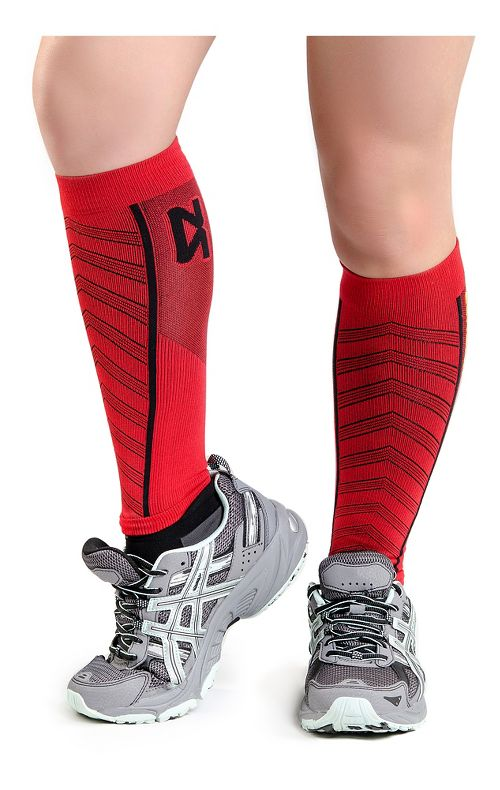 Zensah Featherweight Compression Leg Sleeves Injury Recovery - Red S