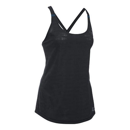 Womens Under Armour HeatGear Supervent Sleeveless & Tank Tops Technical Tops - Black/Navy XS