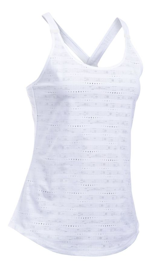 Womens Under Armour HeatGear Supervent Sleeveless & Tank Tops Technical Tops - White L
