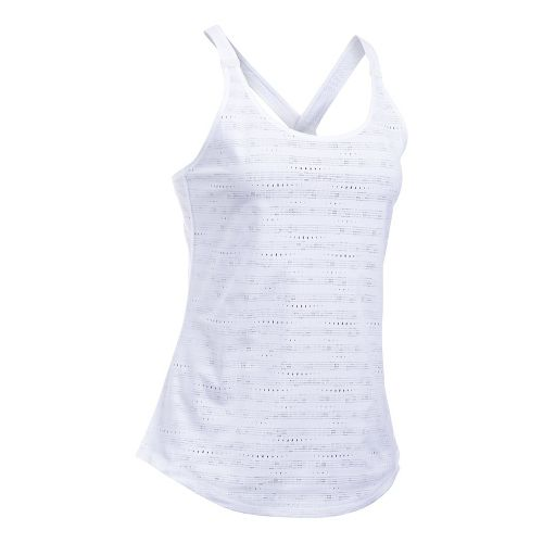 Womens Under Armour HeatGear Supervent Sleeveless & Tank Tops Technical Tops - White M