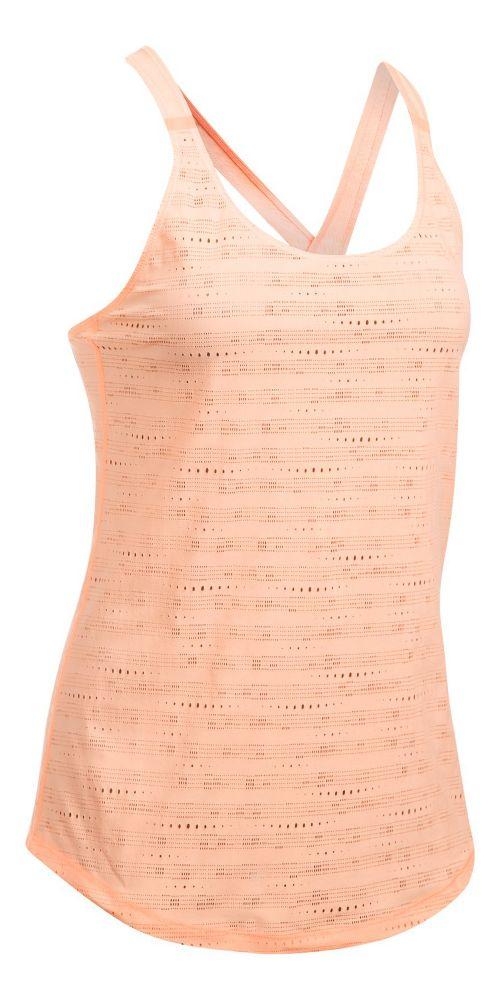 Womens Under Armour HeatGear Supervent Sleeveless & Tank Tops Technical Tops - Playful Peach M