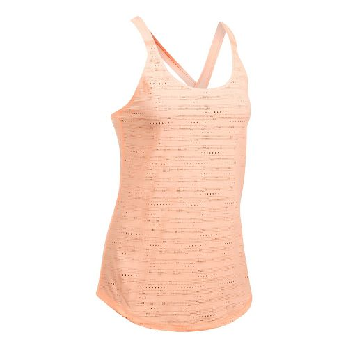 Womens Under Armour HeatGear Supervent Sleeveless & Tank Tops Technical Tops - Playful Peach S ...