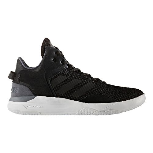 Mens adidas Cloudfoam Revival Mid Casual Shoe - Core Black 9