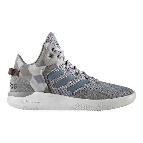 Mens adidas Cloudfoam Revival Mid Casual Shoe - Grey 9