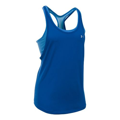Womens Under Armour HeatGear Printed 2-in-1 Sleeveless & Tank Tops Technical Tops - ...