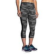 Womens Brooks Greenlight Printed Capri Pants - Black Ikat Jacquard XL