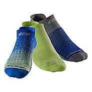 R-Gear Drymax Thin Cushion Pattern No Show 3 pack Socks - Royal Blue/Green digifade M