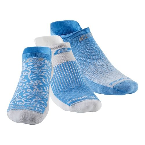 R-Gear Drymax Thin Cushion Pattern No Show 3 pack Socks - Big Sky Blue S