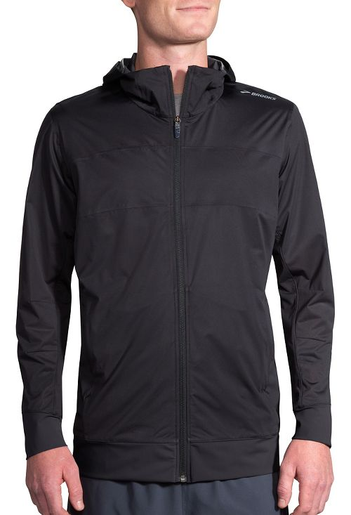 Mens Brooks Hideout Running Jackets - Black XL