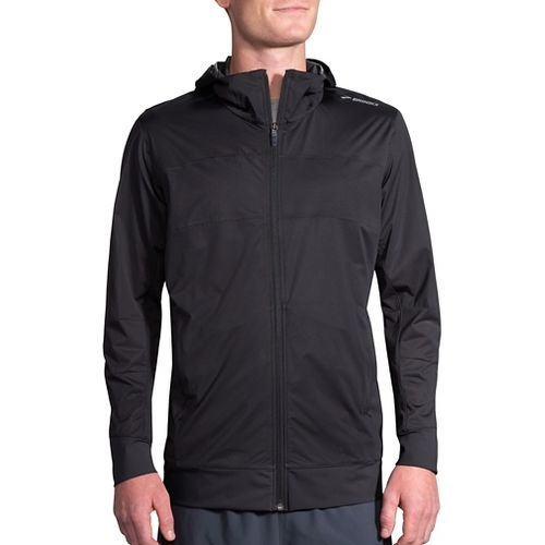 Mens Brooks Hideout Running Jackets - Black S
