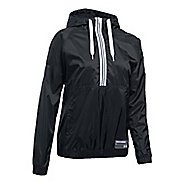 Womens Under Armour Woven Jacket Half-Zips & Hoodies Technical Tops - Black L