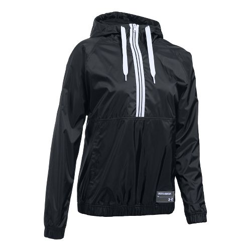 Womens Under Armour Woven Jacket Half-Zips & Hoodies Technical Tops - Black M
