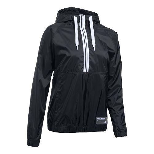 Womens Under Armour Woven Jacket Half-Zips & Hoodies Technical Tops - Black XS