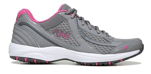 Womens Ryka Dash 3 Walking Shoe - Grey/Pink 9.5