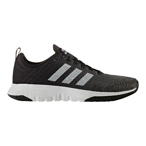 Mens adidas Cloudfoam Super Flex Casual Shoe - Core Black/White 7.5