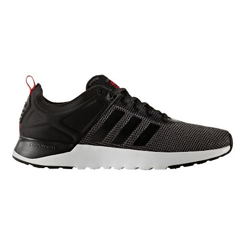 Mens adidas Cloudfoam Super Racer Casual Shoe - Dark Grey/Black 10