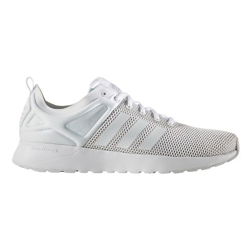 Mens adidas Cloudfoam Super Racer Casual Shoe - Footwear White 9