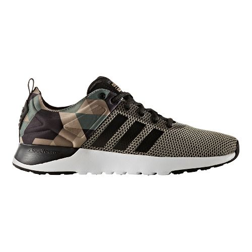Mens adidas Cloudfoam Super Racer Casual Shoe - Trace Green/Black 10