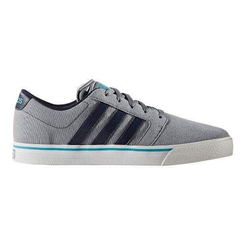 Mens adidas Cloudfoam Super Skate Casual Shoe - Grey/Navy 8.5