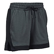 Womens Under Armour Sport Lined Shorts - Heather/Black XS